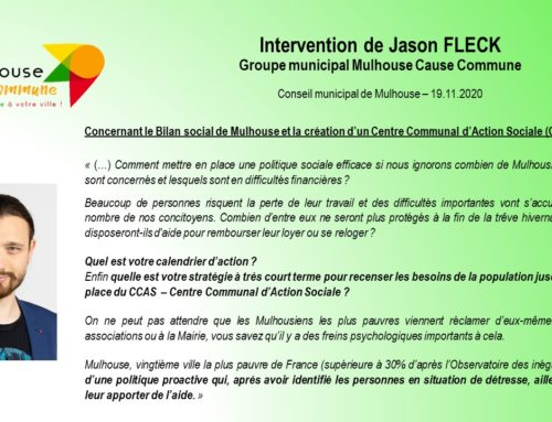 Intervention de Jason FLECK – Conseil municipal du 19.11.2020